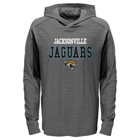 46529d5ec35 NFL Jacksonville Jaguars Boys  Sideline Speed Gray Lightweight Hoodie