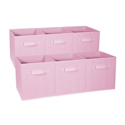 Sorbus 6pk Foldable Storage Cubes - Pastel Pink