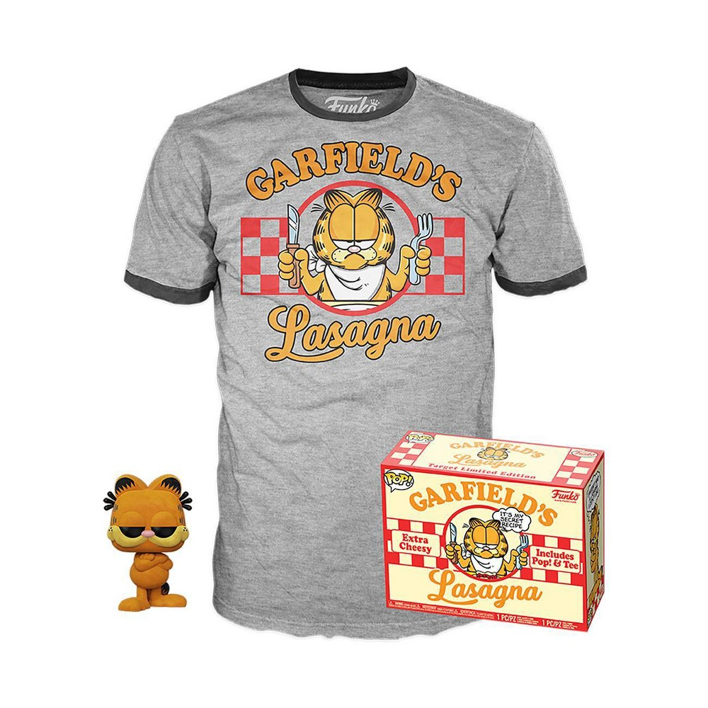 Image of Funko POP! Comics Collectors Box: Garfield (Flocked) POP! & Tee (Target Exclusive) L, Size: Large