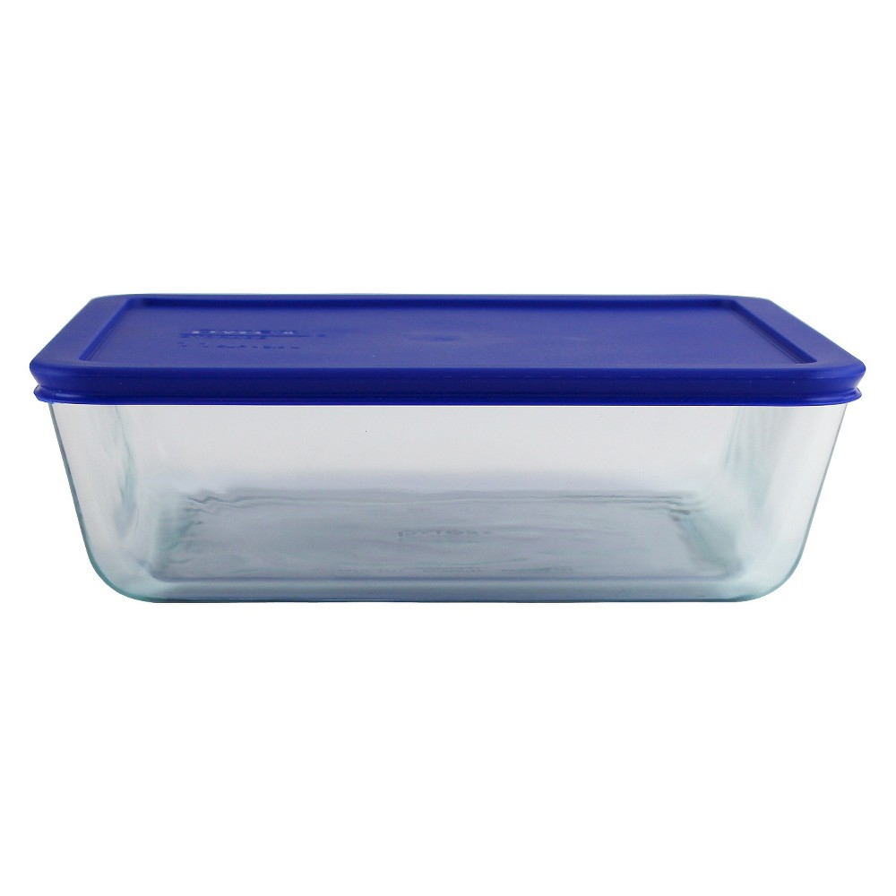 Image of Pyrex 11 cup Food Storage Container Cadet Blue