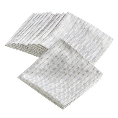 (Set of 4)Ivory Gloria Stitched Design Napkin (20 )- Saro Lifestyle®