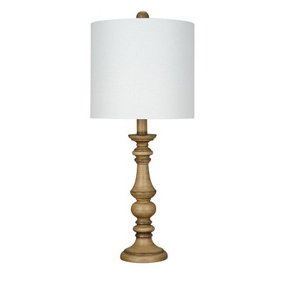 """23"""" Faux Wood Table Lamp (Includes LED Light Bulb) - Cresswell Lighting"""