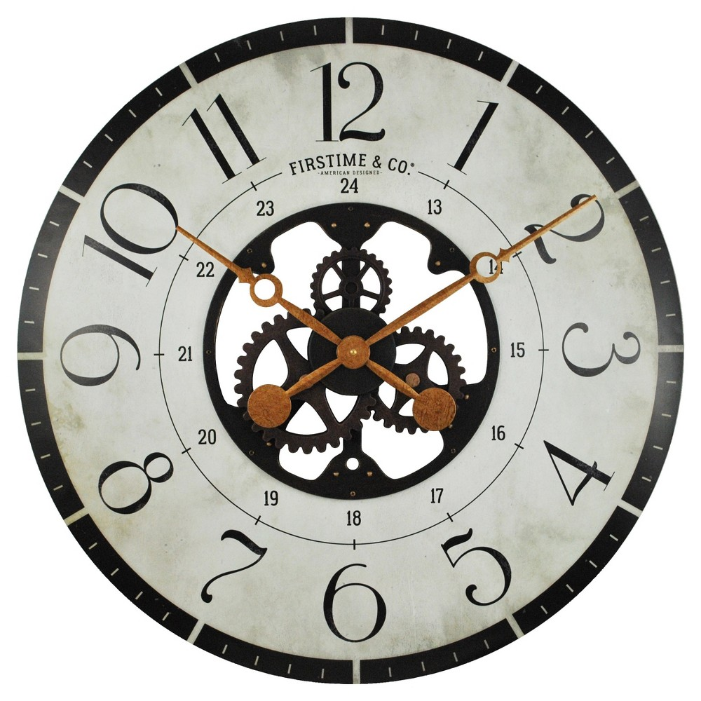 Image of Carlisle Gears 27 Round Wall Clock - FirsTime