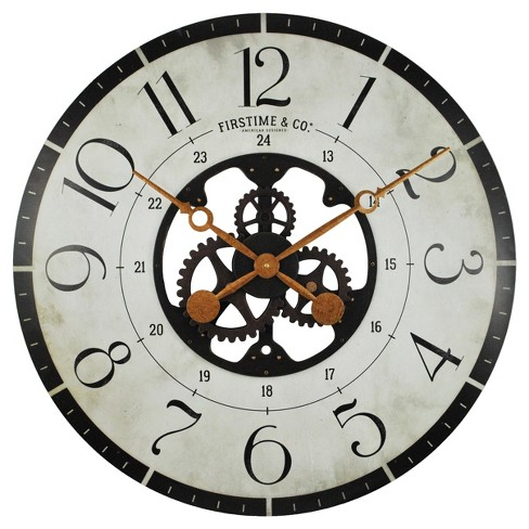 "Carlisle Gears 27"" Round Wall Clock - FirsTime® - image 1 of 2"