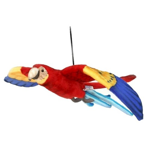 "Hansa Handcrafted 30"" Plush Flying Macaw - Scarlet - image 1 of 1"