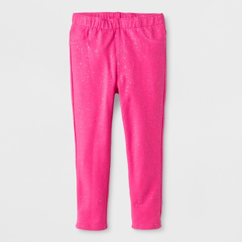 Toddler Girls' Jeggings - Cat & Jack™ Pink Sparkle - image 1 of 2