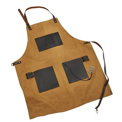 Canvas and Leather Apron - Pit Boss