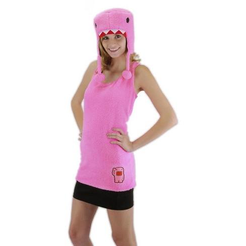 Elope Domo Tank Shirt & Hat Costume Set Pink Adult - image 1 of 1