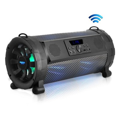 Pyle PBMSPG190 300 Watt Portable Bluetooth Wireless Boombox Speakers Stereo System with Remote Control, LED Lights, and Rechargeable Battery, Black