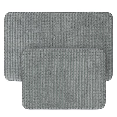 Jacquard Memory Foam Bath Mat Set - Yorkshire Home