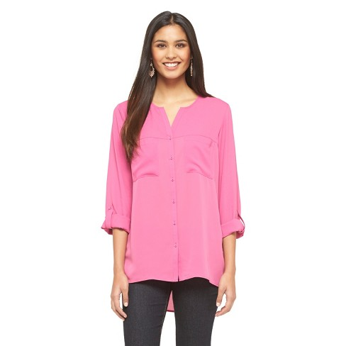 Women's Button-Down Blouse - Mossimo - image 1 of 2