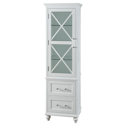 Linen Cabinet Fashion White Elegant Home Fashions