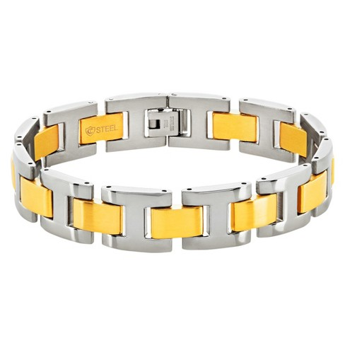 "Men's Crucible® Dual Finish H Link Bracelet - Two-Tone (8.5"") - image 1 of 3"