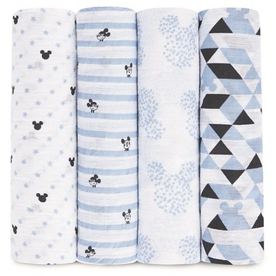 Aden® by Aden + Anais® Muslin Swaddle - 4pk - Disney - Mickey