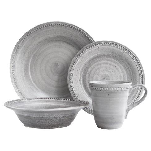 16pc Stoneware Dinnerware Set Gray - American Atelier - image 1 of 2