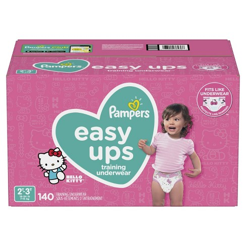 5b29b7638ac Pampers Easy Ups Girls Training Pants One-Month Supply (Assorted Sizes)