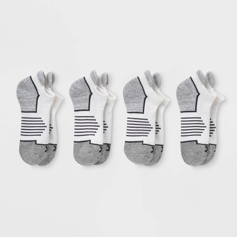 Women's Active Accents Cushioned 4pk No Show Tab Athletic Socks - All In  Motion™ - White 4-10 : Target