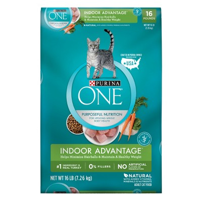 Purina ONE Indoor Advantage Adult Premium Dry Cat Food - 16lbs