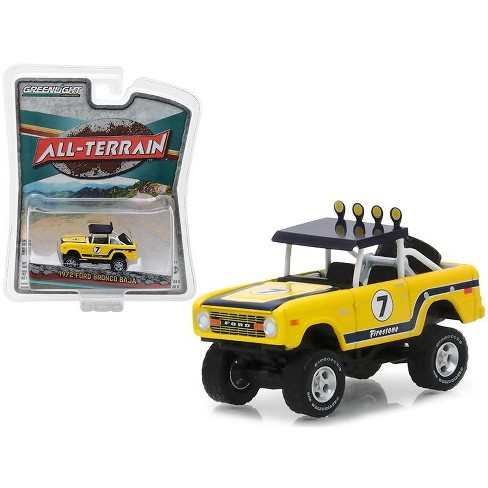 """1972 Ford Bronco Baja Yellow """"All Terrain"""" Series 6 1/64 Diecast Model Car by Greenlight - image 1 of 1"""