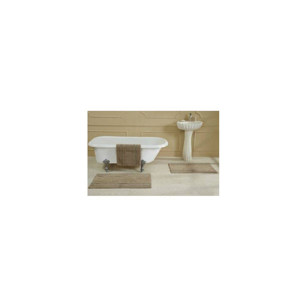 "Image of ""17""""X24"""" Ruffle Border Bath Rug Beige - Better Trends"""