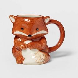 10.8oz Stoneware Fox Mug Orange - Threshold™