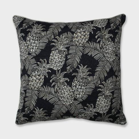 "25"" Carate Batik Noche Floor Pillow Black - Pillow Perfect - image 1 of 1"