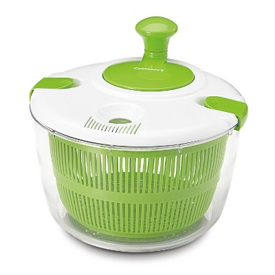Cuisinart 3qt  White and Green Salad Spinner  - CTG-00-SSAS