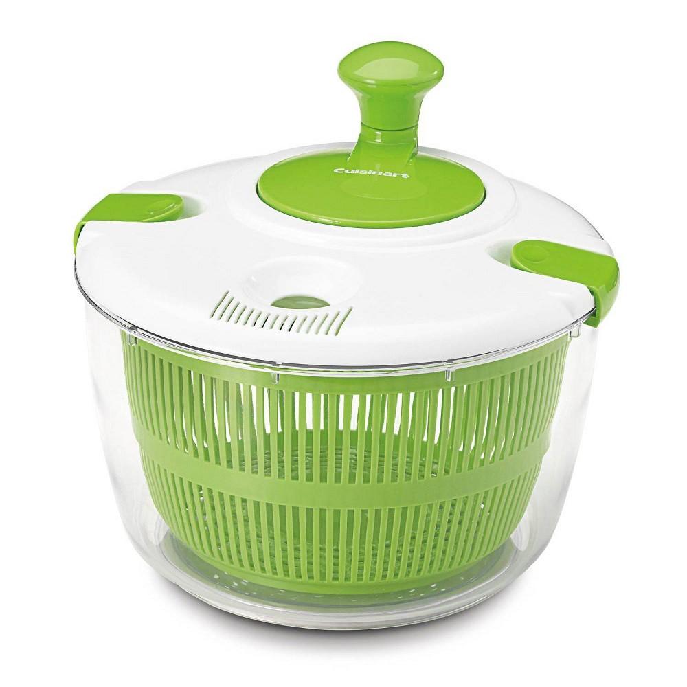 Cuisinart 3qt White And Green Salad Spinner Ctg 00 Ssas