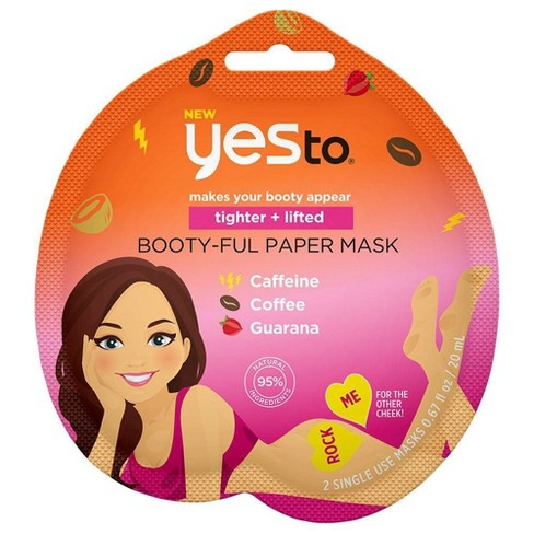 Yes To Tighter + Lifted Booty-Ful Paper Mask - 0.67 fl oz - image 1 of 2