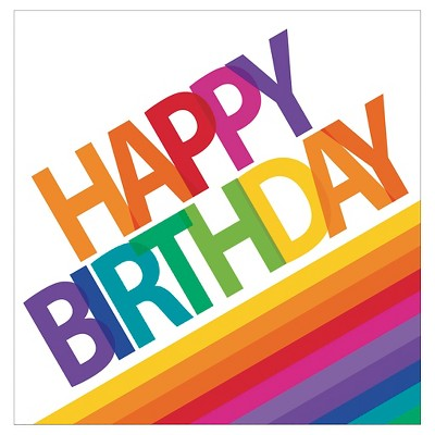 Rainbow Birthday Napkins 16 pk