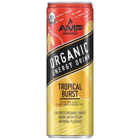 AMP Organic Tropical Burst - 12 fl oz Can - image 1 of 3