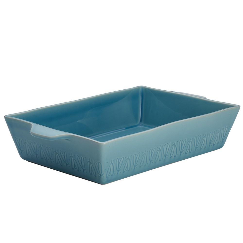 "Image of ""Ayesha Curry 9"""" x 13"""" Home Collection Stoneware Rectangular Baker, Twilight Blue"""