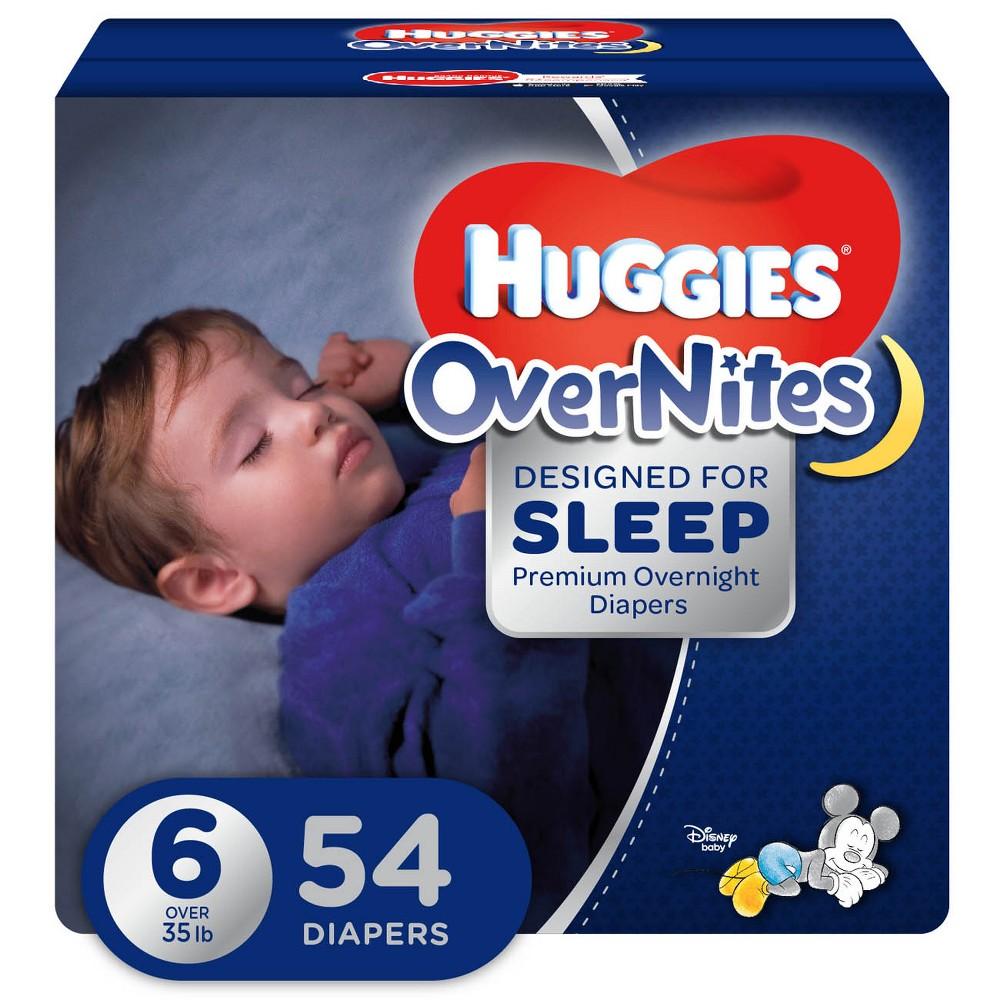 Huggies OverNites Diapers - Size 6 (54ct)