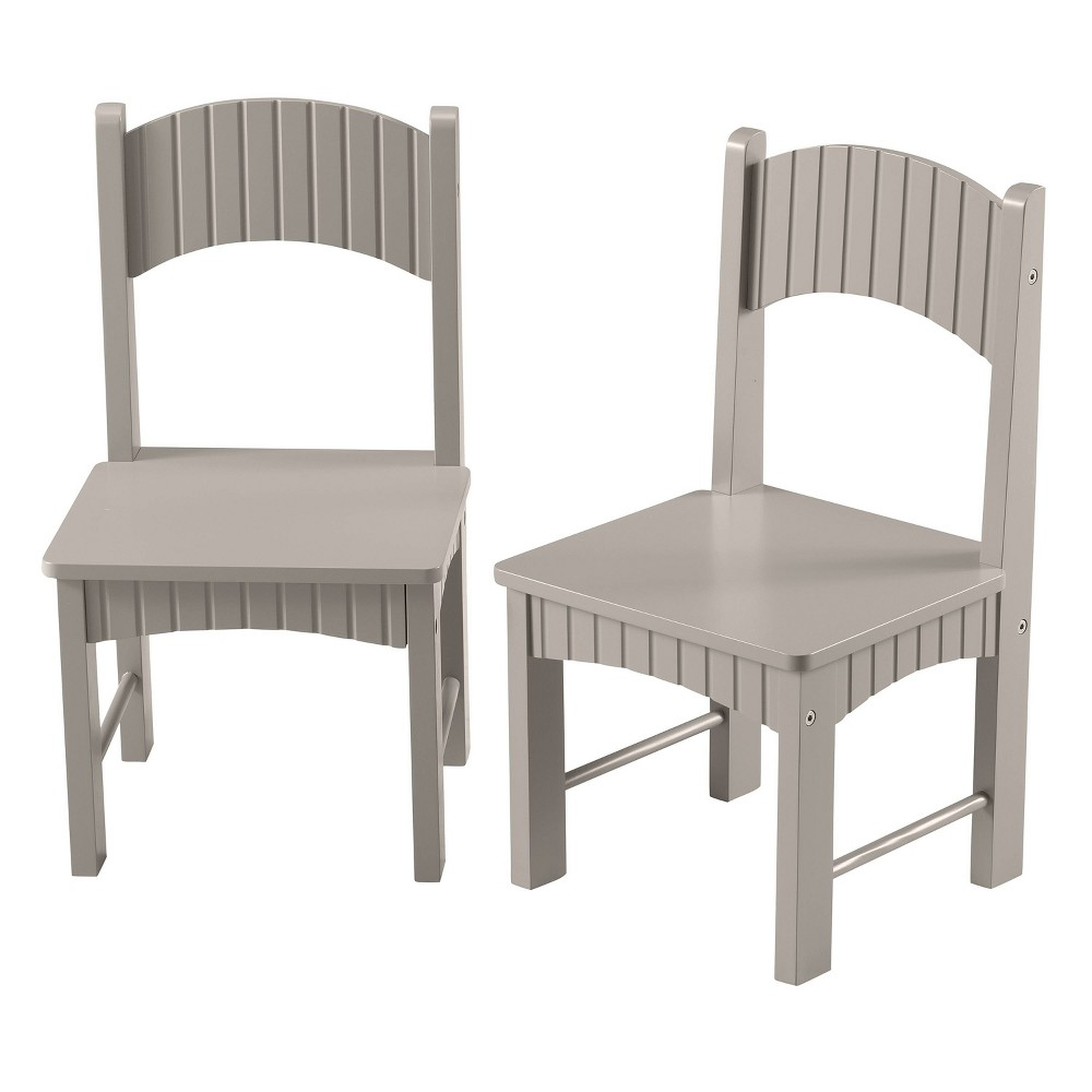 Image of Set of 2 Henry Chairs Gray - Linon