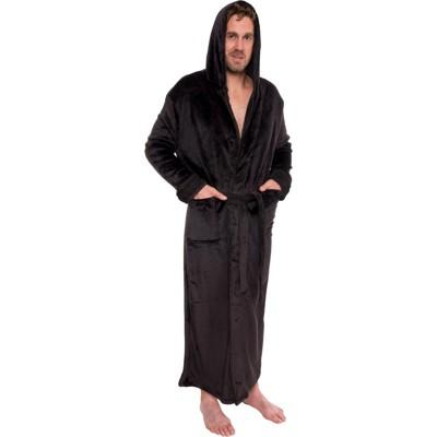 Ross Michaels Men's Big & Tall Full Length Plush Luxury Hooded Bathrobe