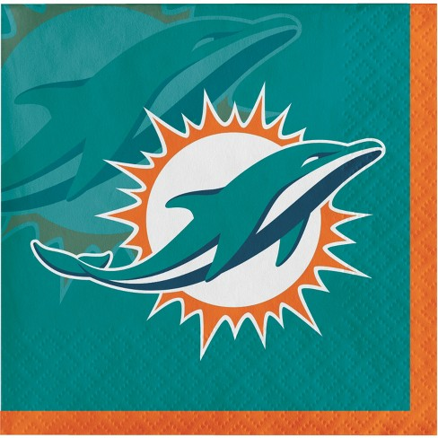 16ct Miami Dolphins Cocktail Napkins - image 1 of 1