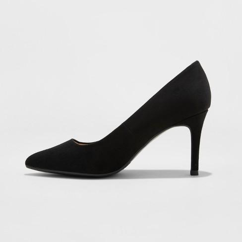 dd967dcb12e6 Women s Gemma Wide Width Pointed Toe Pumps - A New Day™ Black 6.5W   Target