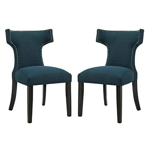 Curve Dining Side Chair Fabric Set of 2 - Modway - image 1 of 5