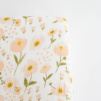 Clementine Kids Blush Bloom Crib Sheet