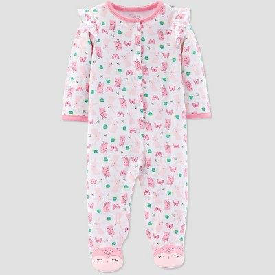 Baby Girls' Owl Bunny Sleep 'N Play One Piece Pajama - Just One You® made by carter's Pink 9M