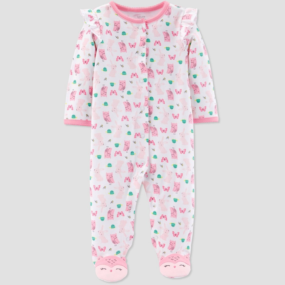 Baby Girls' Owl Bunny Sleep 'N Play One Piece Pajama - Just One You made by carter's Pink 6M