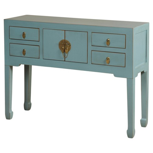 About this item - Asian Inspired Console Table With Antique Brass... : Target