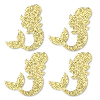 No-Mess Real Gold Glitter Cut-Outs and Decorative Girl Baby Shower Paper Straws Set of 24 Gold Glitter Girl Baby Bodysuit Party Straws