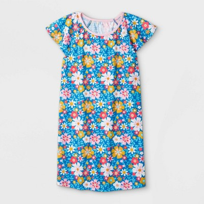Girls' Floral Nightgown - Cat & Jack™ Blue