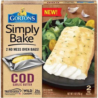 Gorton's Simply Bake Garlic Butter Cod Fillets - Frozen - 9oz