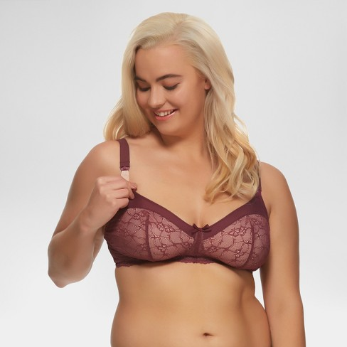 128e508316d84 Paramour® Women s Micro And Lace Wirefree Nursing Bra - Purple 40H   Target