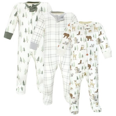 Hudson Baby Infant Boy Cotton Sleep and Play, Forest Animals