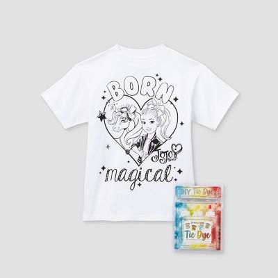 Kids' JoJo Siwa Born Magical Short Sleeve Graphic T-Shirt with Tie-Dye Kit - White