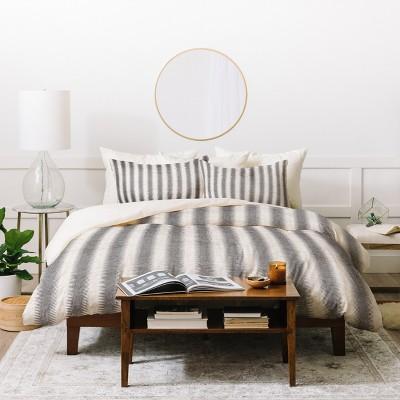 Holli Zollinger Seaside Stripe Duvet Cover Set Gray - Deny - Deny Designs