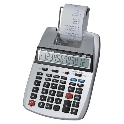 Canon P23 Dh V Printing Calculator With Clock And Calendar Silver